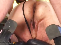In fat women pussy fits two members
