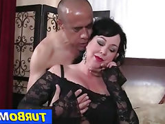 Fat big tits lady amanda blowjob and..