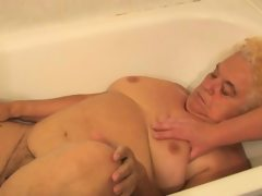Granny and sexy nurse is enjoying hot..