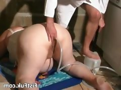 Crazy doctor screws her tiny dirty