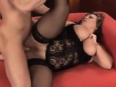 Fat and busty mother in lingerie fucking