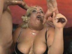 Fat blonde amateur with great big tits..