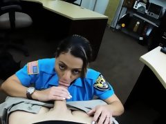 Latin police officer banged by pawn..