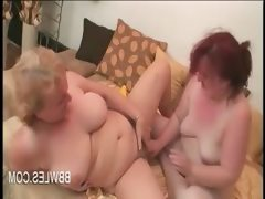 Bbw lesbo matures vibrating hairy..