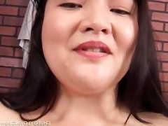 Big tits japanese fatty toying with..