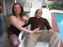 Fat milf pounded by two hard black cocks