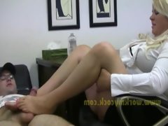 Therapist footjob