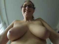 My mature saggy tits and my chubby..