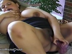 Big dark skinned bbw with sex toy