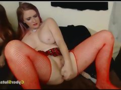 Bbw redhead with fishnets anal and..