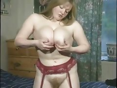 Big booded chubby multi striptease