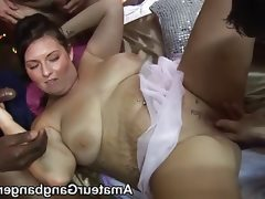 Fat houswife and chubby friend get..