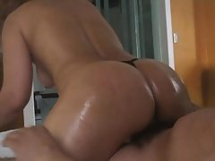 My wife and her oiled ass