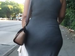 Beautiful bubble in sundress sexy jiggle
