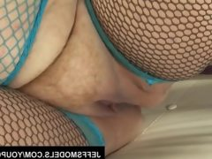 Julie ann more uses her large body to..